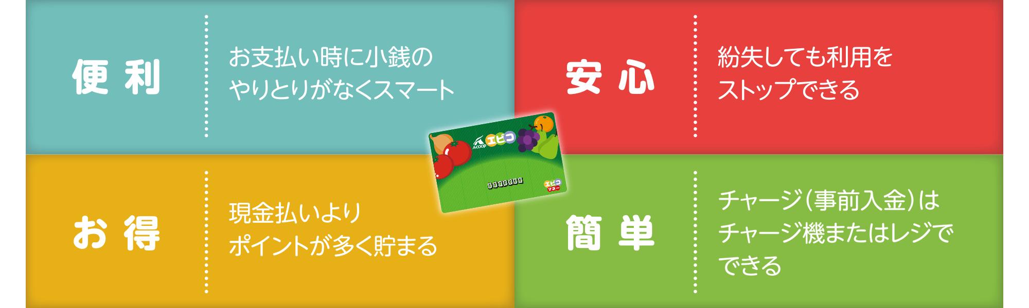 便 利/安 心/お 得/簡 単